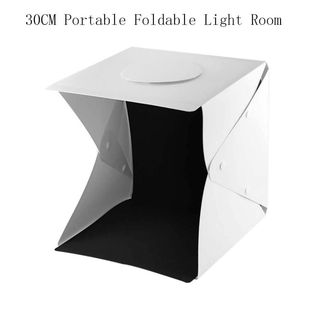 30cmPortable Foldable Light Room LED Photo Studio Photography Light Tent Kit Camera Photo Backdrop Mini Cube Box Light Photo Box