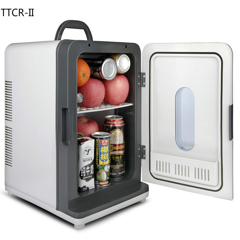 Car Refrigerator Freezer Car-Cooler Mini 18L 12V 220V Home Dormitory title=