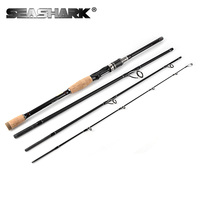 SEASHARK Spinning Rod Casting Fishing Rod 2.1M 2.4M 2.7M 3.0M 4 Sections Power M Carbon Fiber Pole Lure Fishing Tackle