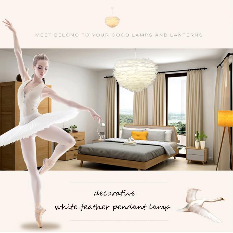 Modern Feather Pendant Light Contemporary Italian Design Goose Feather Hanging Pendant Lamp Fancy Home Lights Villa Restaurant (15)