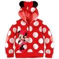 ( LL69 ) 2016 muchachas calientes del bebé para niños de Mickey Minnie Tops sudaderas con capucha escudo sudadera trajes de traje determinada del envío gratis