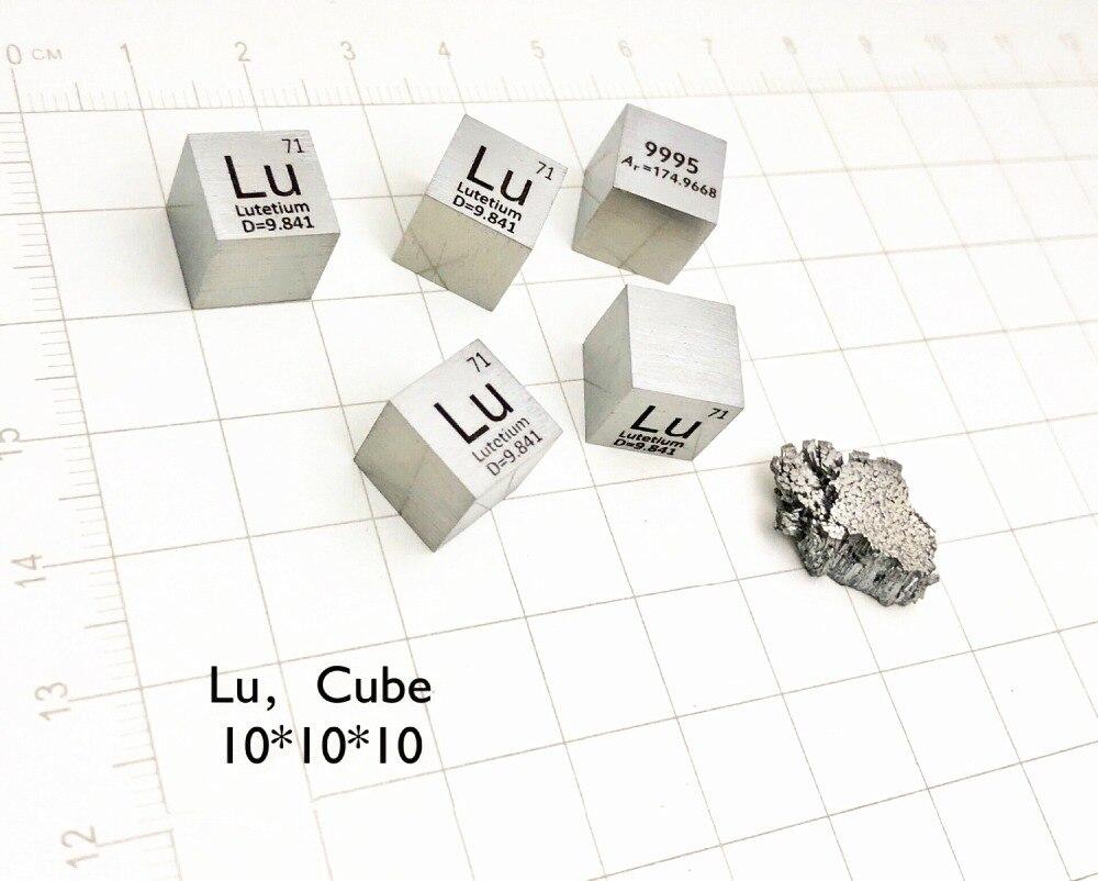 Lutezio Cubo per Elemento Collezione Scienza Esperimento 99.95% 10x10x10mm Peso 9.8-10g Lu cubo per La Ricerca e Lo SviluppoLutezio Cubo per Elemento Collezione Scienza Esperimento 99.95% 10x10x10mm Peso 9.8-10g Lu cubo per La Ricerca e Lo Sviluppo