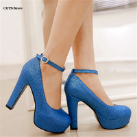CDTS Spring 12cm Ultra High Thick Heels Single Shoes Women S Customize Princess Small Yards 31