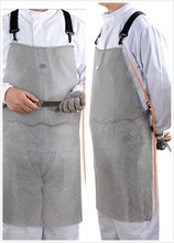 Купить с кэшбэком 316L  cut resistant knife proof protect stomach stainless steel chain mail butcher apron