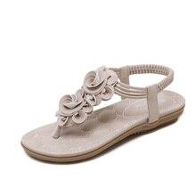 Sandalias casuales zapatos de verano Dulce Floral de Las Mujeres Sandalias de la flor de Lujo Pisos antideslizantes más el tamaño