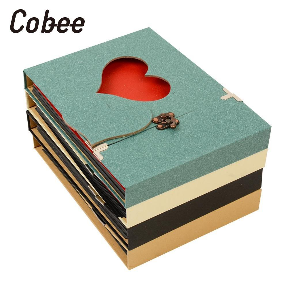Cobee Creative Hollowed Heart Love Shape Photography Image Album Scrapbook DIY Craft Anniversary Gift Not Notebook 8x10ft valentine s day photography pink love heart shape adult portrait backdrop d 7324