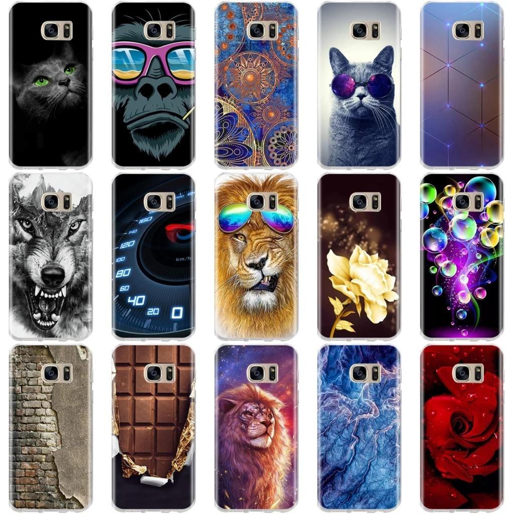 For Coque Samsung Galaxy S7 S5 S6 S7 Edge Case Silicone TPU Cover 3D Skim Cute Capa For Fundas Samsung S5 S6 S7 Edge Phone Cases