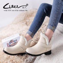 Big Size 34-48 Ankle Boots For Women 2019 Winter warm fur Snow Boots Flat Heels Platform Women Shoes Female Round Toe Boots size 34 43 winter women snow boots warm round toe comfortable flat shoes female footwear fashion botas popular 896