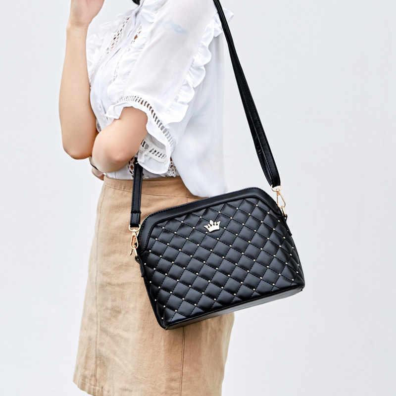 YBYT marka 2019 nowe damskie torebki na ramię panie diament krata codzienny portfel kobiet powłoki torby kurierskie crossbody torby damskie