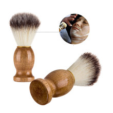 Мужская бритвенная щетка из Натурального Волоса барсука для бритвы Edge Safety Straight Classic Safety Razor 11 см x 3,5 см Health Care