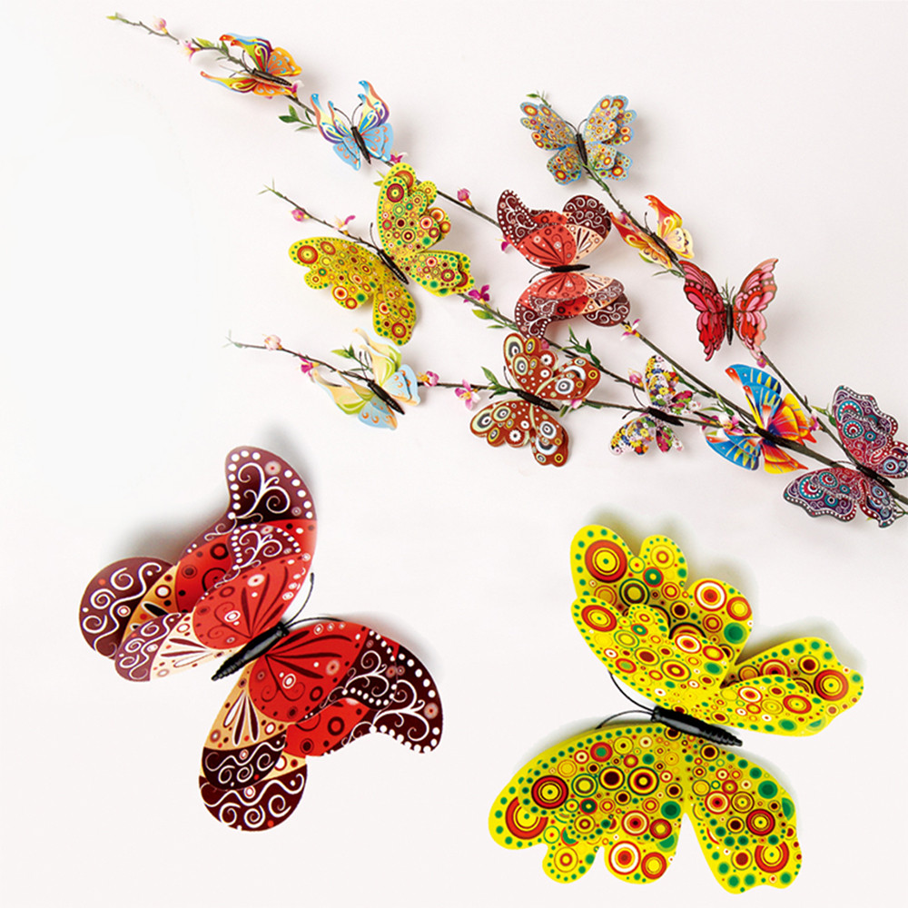 3D DIY PVC Pin type Home Decor Butterfly Curtain Dress Decorate Accessory A perfect gift for any Special Occasions my daughter music box