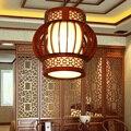 Китайские деревянные подвесные лампы столовые Чайные домики коридоры балкон вход Круглые лампы подвесные светильники ZA ZL508