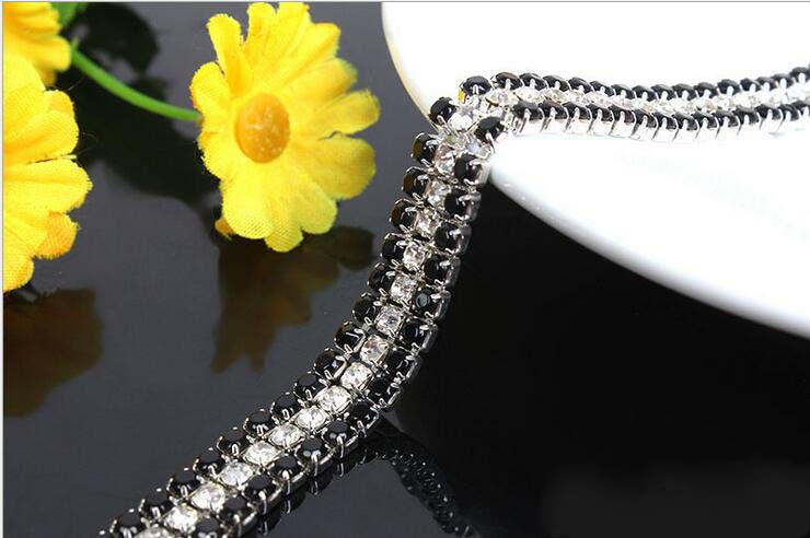 Free Shipping  5 yards Crystal Rhinestone Trim, Rhinestone Applique, Bridal Applique,Wedding Applique,Rhinestone Chain TONG108