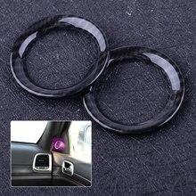 beler Carbon Fiber Style 2pcs Front Door Speaker Cover Trim Ring Fit For Jeep Grand Cherokee 2011-2013 2014 2015 2016 2017 2018