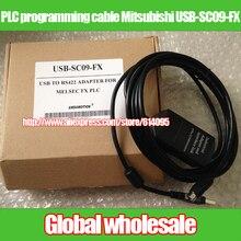 1 шт. PLC Кабель для программирования данных для Mitsubishi FX/USB-SC09-FX FX1S FX1N FX2N USB к RS422 адаптер для MELSEC FX PLC