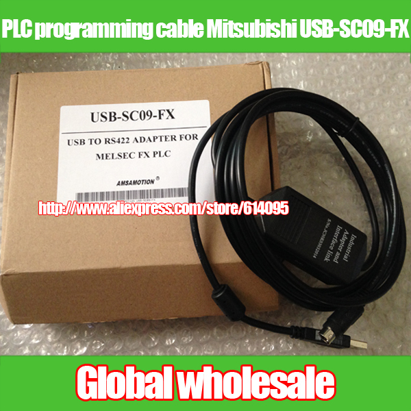USB-SC09-FX Cable Adaptador Usb A RS422 de Programación de PLC para Mitsubishi FX Win7