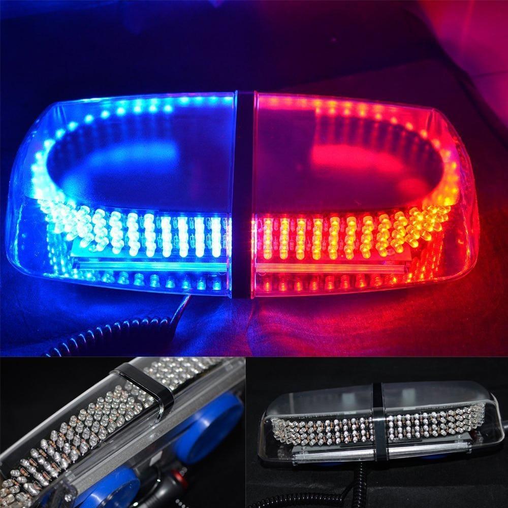 Rouge bleu 240 LED avertissement de danger d'urgence LED Mini barre stroboscopique avec Base magnétique pour Ford vw opel peugeot mitsubishi jeep