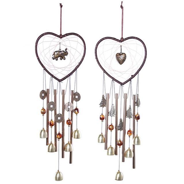 Retro Style Dream Catcher Metal Tube Bell Wind Chimes Home Garden Pendant  Door Hanging Ornament Dreamcatcher