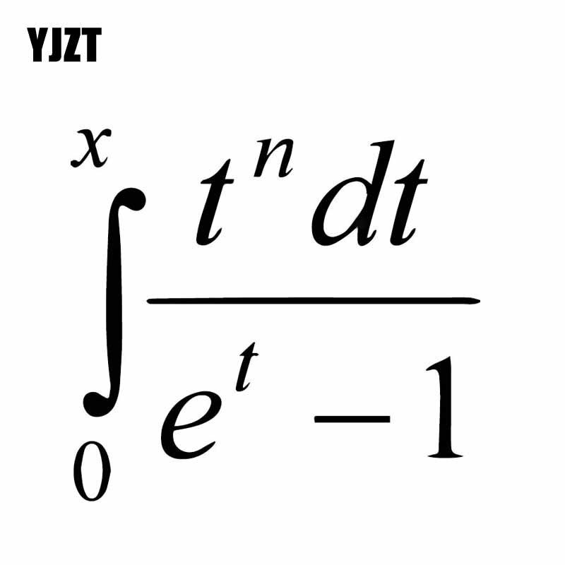 YJZT 16CM*14.4CM Complex Mathematical Equation Vinly Decal Interesting Car Sticker Simplicity Cool Black/Silver C27-0334