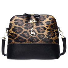 Женская сумка через плечо с леопардовым принтом с подвеской в виде олененка для свадебной вечеринки, женская сумка через плечо, сумка-мессенджер#3