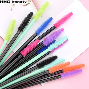 HMQ Disposable Silicone Gel Eyelash Brush Comb Mascara Wands Eye Lashes Extension Tool Professional Beauty Makeup Tool For Women(China)