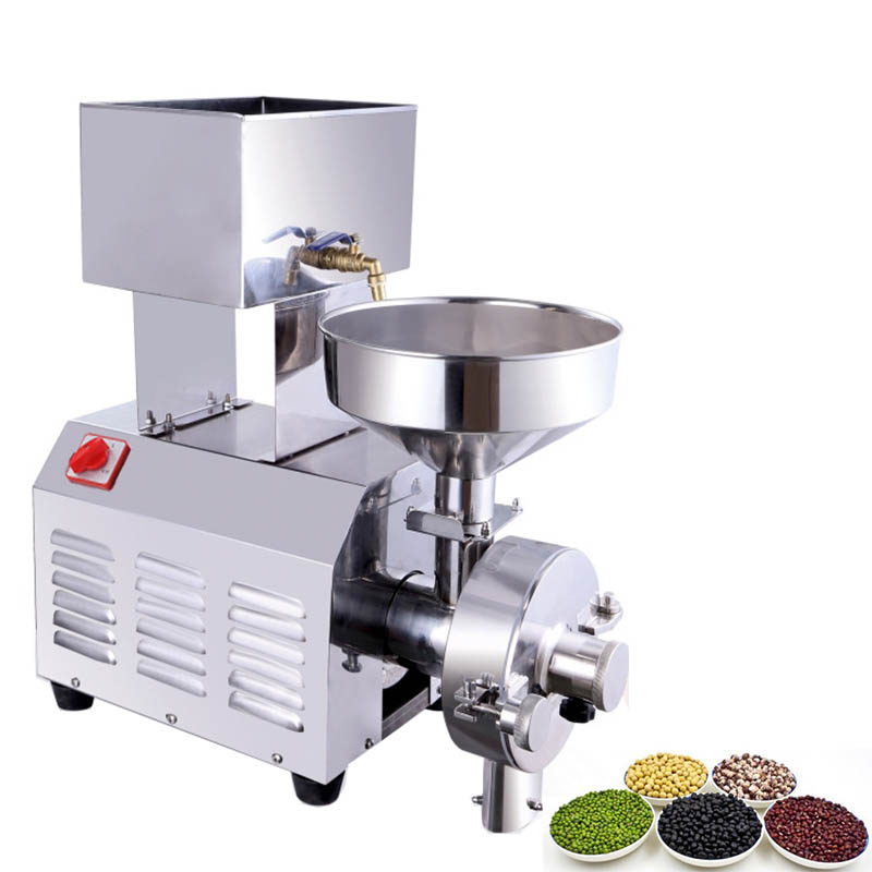 JamieLin Commercial Small Household Multi functional Mill Peanut Sesame Pulping Machine Stainless Steel Peanut Butter Mill