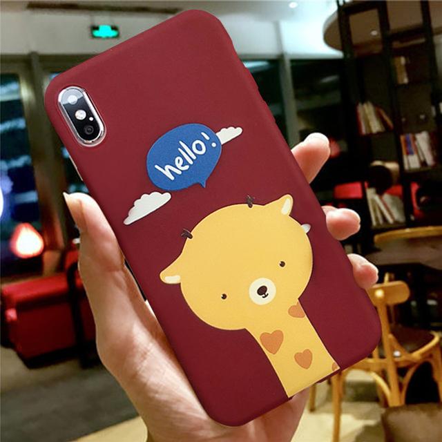 Cute Cartoon Giraffe Phone Case For iPhone
