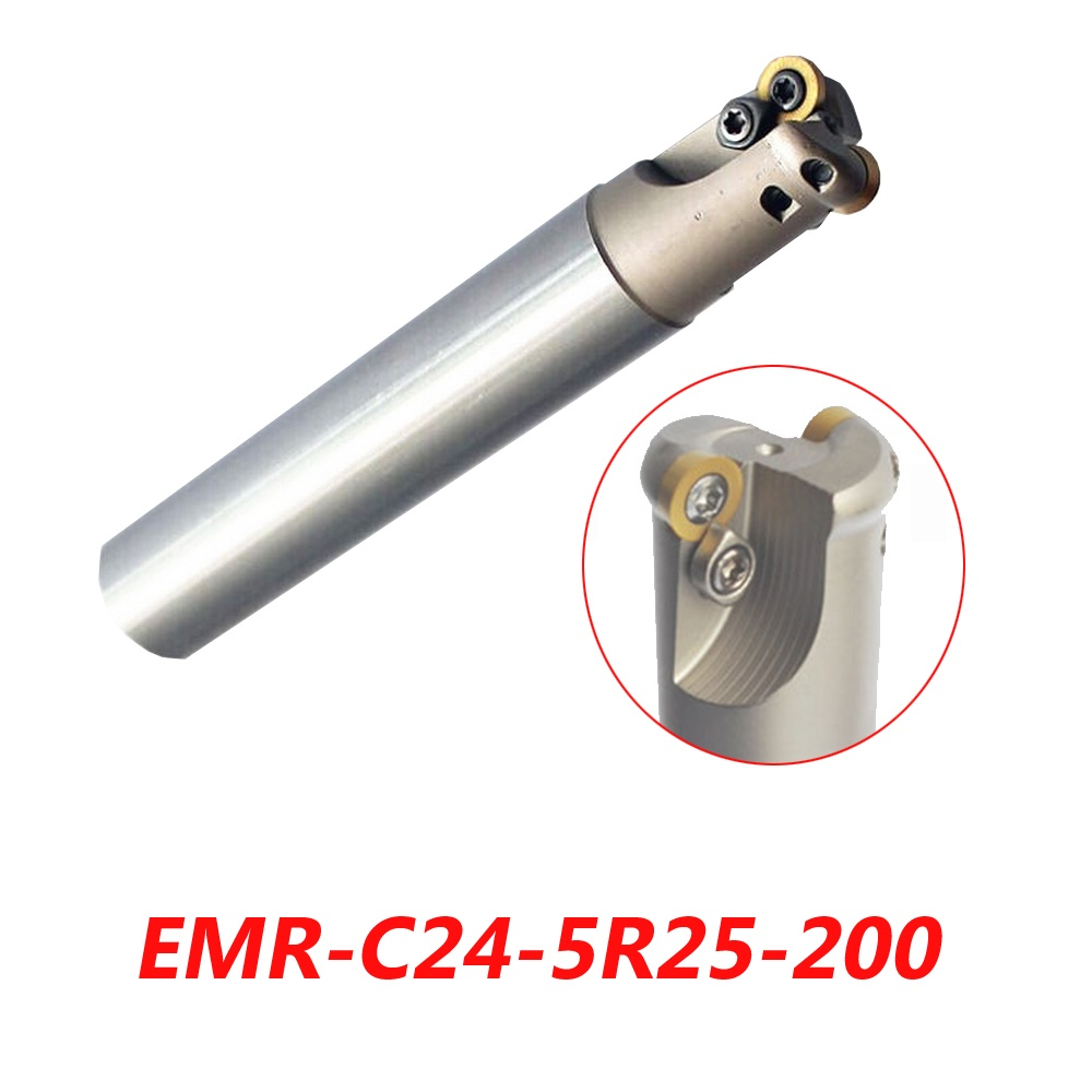 Free Shipping EMR-C24-5R25-200 Indexable Face Milling Cutter Tools For RPMW1003MO Carbide Inserts Suitable For NC/CNC Machine