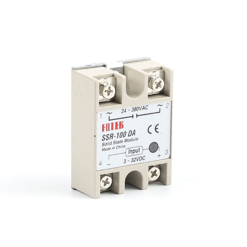 Industrial   Solid State Relay SSR 100A With Protective Flag SSR-100DA 100A DC Control AC