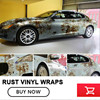 Car Rust Protection Rusty Style Sticker Bomb Rust Vinyl Car Wrap Blue Camouflage Adhesive Film Camo