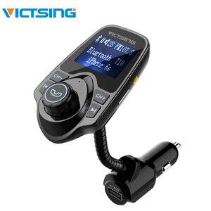 VicTsing беспроводной FM Bluetooth передатчик модулятор Автомобильный комплект 1,44