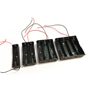 Image 1 - 1pcs 18650 Power Battery Storage Case Box Holder Leads With 1 2 3 4 Slots drop shipping