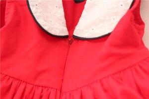 Image 5 - Zomer Baby Meisje Mouwloze Rode Vintage Spaanse Jurk Rode Paleis Stijl Jurk Voor Meisjes Feestjurk Prinses Jurk 100% Katoen