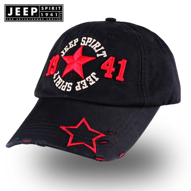 a4ae5a8fca393 Jeep 1941 Baseball Cap Men Adult Army Snapback Cap Hip Hop Casquette Washed  Cotton Adjustable Solid Color Hat Gorras Para Hombre
