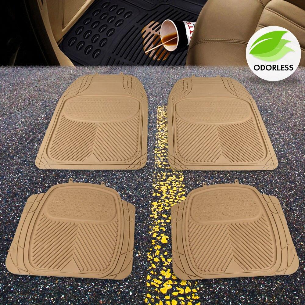 Rubber floor mats price - Us 4pcs Car Truck Suv Van Custom Pvc Rubber Floor Mats Carpet Front Rear