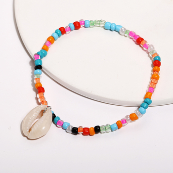 IF ME Bohemian Natural Sea Shell Beads Anklets for Women Coloful Bracelet On Leg Chain Anklet Summer Beach Foot Jewelry 2019 NEW 4