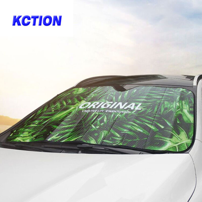 Kction auto car shade covers front sunshade for windshield film visor cover UV protect reflector nissan kia vw passat jeep bmw ...