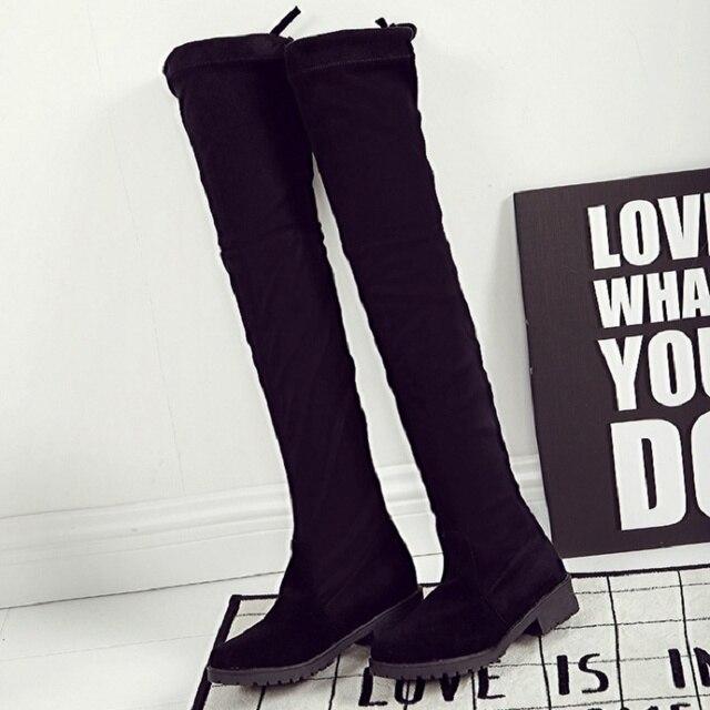 Botas negras a la rodilla para mujeres Uw6yhvcre