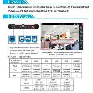 Image 3 - Бесплатная доставка DHL, тестер видеонаблюдения H.265 4K Wanglu X7 8 Мп, TVI CVI AHD SDI CVBS, тестер IP камеры, монитор с кабельным трассировщиком, тест кабеля UTP/RJ45