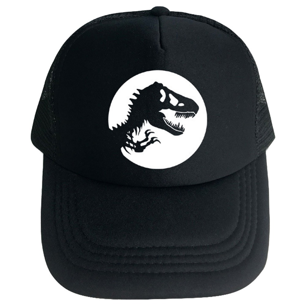 Movie Jurassic World Fallen Kingdom Hat Duck Tongue Jurassic Park 5 Black Baseball Cap Halloween Cosplay