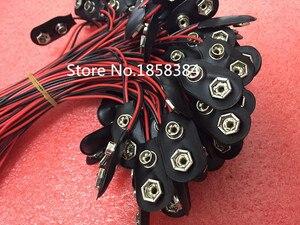 Image 3 - 200 adet/grup 9V pil yapış bağlantısı klipsi kurşun teller tutucu 150MM