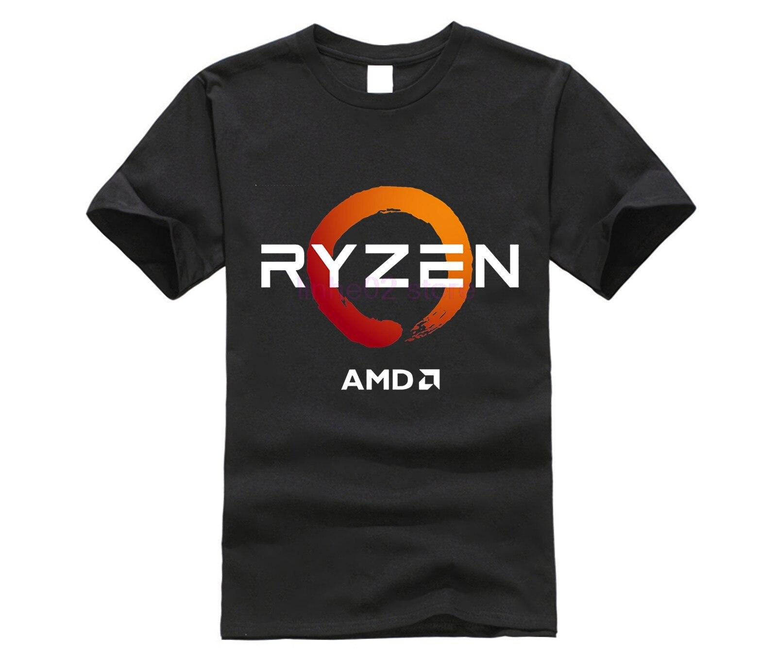 PC CP CPU Uprocessor AMD RYZEN T Shirt geek programmer tees Gaming camiseta Computer ZEN Peripherals cotton geek T-Shirt