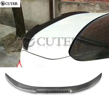 F10 5 series M4 style Carbon fiber Car Rear Wings trunk Lip spoiler For BMW F10 520i 525i 530i 535i body kit 10-17 image