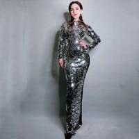 Женский танцевальный комбинезон со стразами, танцевальный комбинезон, праздничный женский костюм певицы с кристаллами DJ224