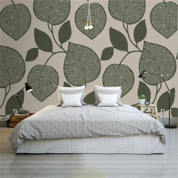 European Style 3D Wallpapers Custom Photo Non-Woven Wall Papers Tree Leaf Modern Wall Murals for Living Room Bedroom Home Decor фото