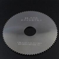 2 PCS Fräsen Sägeblatt 125mm Dicke 1mm bis 3mm 80 T Vhm Runde Schlitzen Säge cutter CNC Metall Edelstahl Schneiden Werkzeug