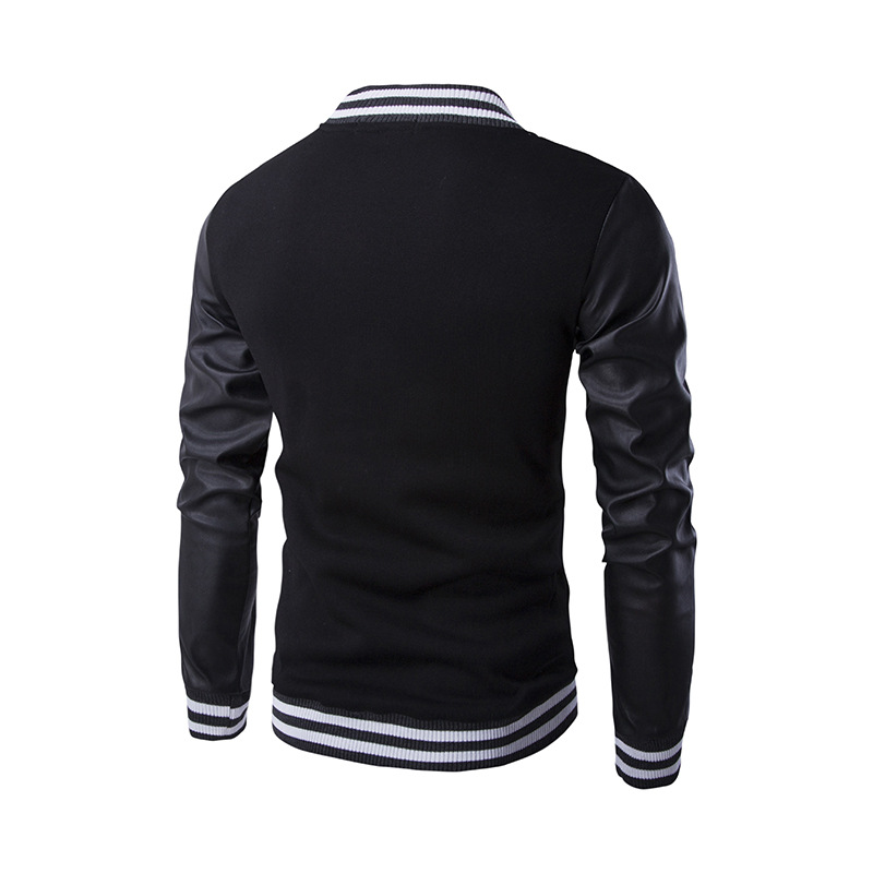 New Trend Black College Baseball Jacket Men/Boy Veste Homme Casual ...