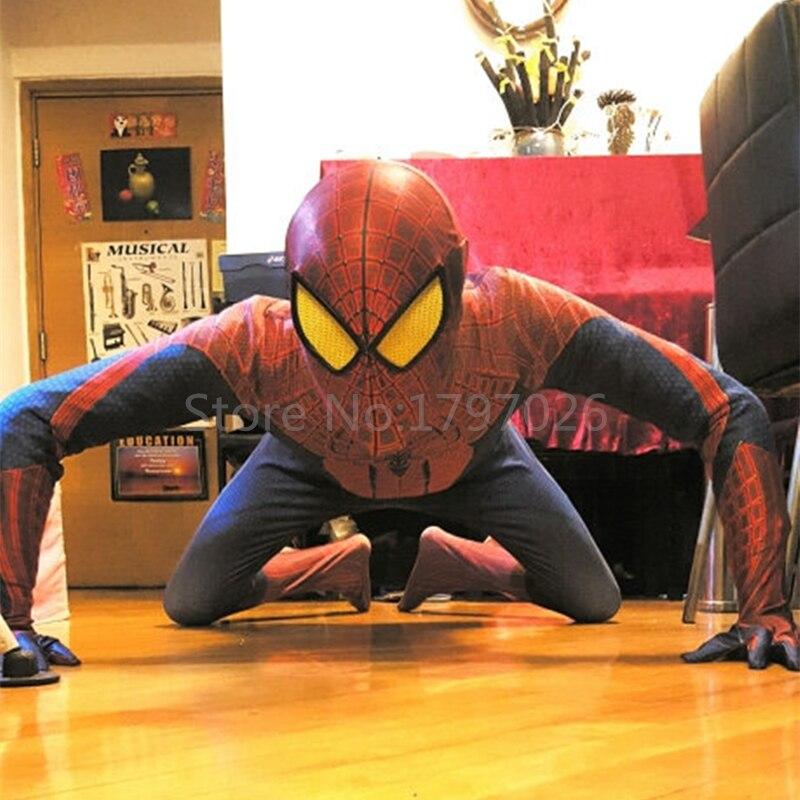 Ручной работы cупергероя на Хеллоуин, Мстители из фильма Новый Человек паук 2 Zentai костюмы Для женщин и мужчин, для детей, одежда для сна, с изо
