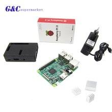 Raspberry pi 3 3 шт Алюминиевый Радиатор + Raspberry pi 3 ABS Случае Коробка + 5 В 2. 5A зарядное устройство джек ВЕЛИКОБРИТАНИЯ RS версия