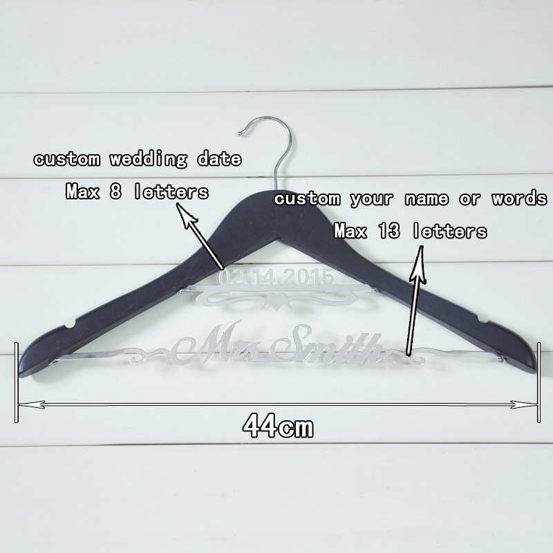 bride hanger personalized hanger for wedding dress or wedding party ...